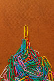 Paperclip concept Royalty Free Stock Photos