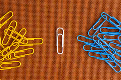 Paperclip concept Stock Image