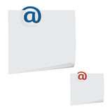 Paperclip del mensaje Foto de archivo