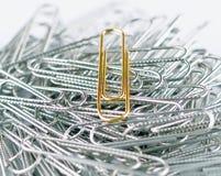 Paperclip dourado 1 Fotografia de Stock
