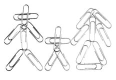 Paperclip family Royalty Free Stock Image