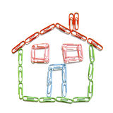 Paperclip house Royalty Free Stock Photography