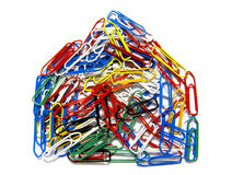 Paperclip House Stock Image