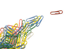 Paperclip leader Stock Image