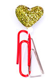 Paperclip Love I royalty free stock photo
