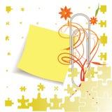 Paperclip met bellen bedrijfsstok Stock Foto's