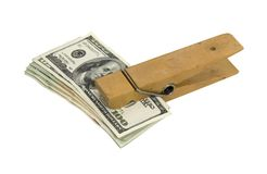 Paperclip of money Stock Photography