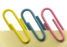 Paperclip on a note Stock Photography
