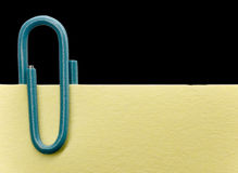 Paperclip on a note Stock Photo