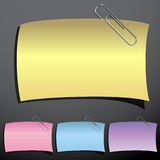 Paperclip Note Set Royalty Free Stock Photo