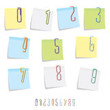 Paperclip Number Set Royalty Free Stock Photos