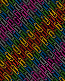 Paperclip pattern Royalty Free Stock Photo