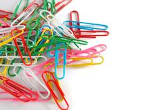 PaperClip. On a white background Stock Images