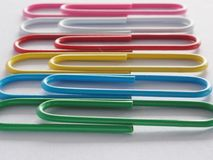 PaperClip. On a white background Royalty Free Stock Photography