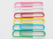 PaperClip. On a white background Royalty Free Stock Photo