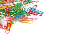 PaperClip. On a white background Royalty Free Stock Images