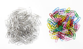 Paperclip on white background Stock Images