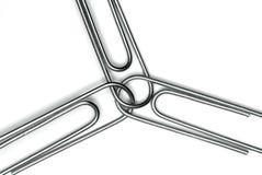 paperclips ομαδική εργασία Στοκ Εικόνες