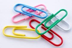 Paperclips цвета Стоковое Изображение RF