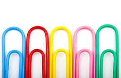 Paperclips. Over a white background Royalty Free Stock Image