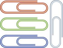 paperclips Arkivbild