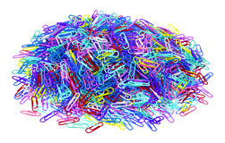 2000 paperclips Fotografie Stock