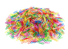 2000 paperclips Arkivfoton