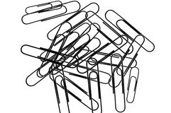 Paperclips foto de stock royalty free