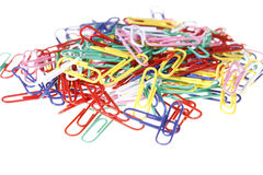Paperclips Closeup Royalty Free Stock Images