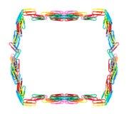 Paperclips coloridos aislados foto de archivo libre de regalías