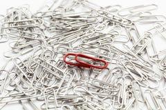 Paperclips del metal Foto de archivo libre de regalías