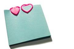Paperclips do coração foto de stock royalty free