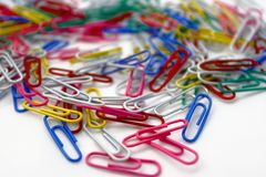 Paperclips do metal Fotografia de Stock Royalty Free