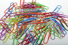Paperclips due Fotografia Stock