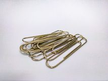 paperclips arkivfoton