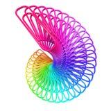 paperclips för regnbåge 3d Arkivbild