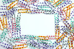 Paperclips frame Royalty Free Stock Photos