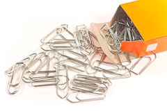 Paperclips i ask Arkivfoto