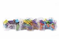 Paperclips i Pushpins - Biurowe dostawy zdjęcia royalty free