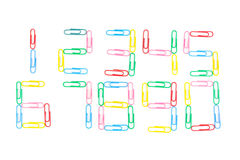 Paperclips isolated Stock Images