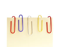 Paperclips Notepaper Royalty Free Stock Photo