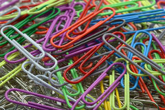 Paperclips one Royalty Free Stock Image