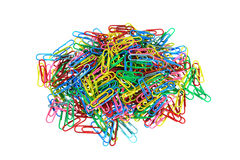 Paperclips pile Stock Photos