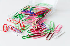 Paperclips pile Royalty Free Stock Images