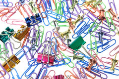 Paperclips and Pushpins Royalty Free Stock Image