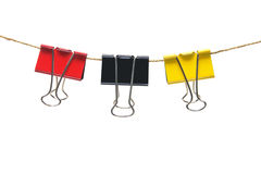 Paperclips su stringa Fotografia Stock