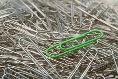 Paperclips tre Arkivfoton