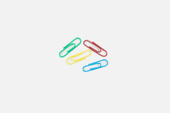 Paperclips on white background Royalty Free Stock Photo