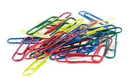 Paperclips  on the white background Stock Image