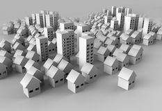 Papercraft Building. Paper model of the city represent architecture and landscape planning Royalty Free Stock Image